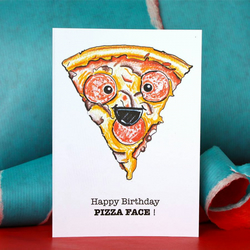 Pizza Lovers Birthday Card