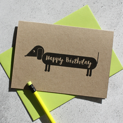 Dog Themed Birthday Card