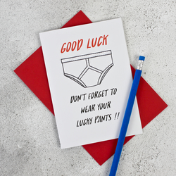 Good Luck Pants Card