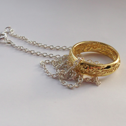 Lord Of The Rings Necklace- The One Ring. LOTR The Hobbit