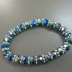 Turquoise Sparkle Stretch Crystal Bracelet