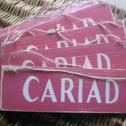 "WELSH Shabby Chic ""CARIAD"" Wedding Sign"