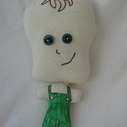 Little Ed  fabric doll