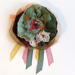 ON SALE Spring Greens, Corsage, Brooch
