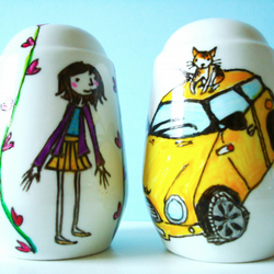 THEMED Personalised Salt & Pepper Shakers for Birthday, Wedding or Engagement