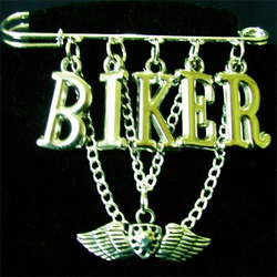 Biker Kilt Pin Brooch FREE UK P+P