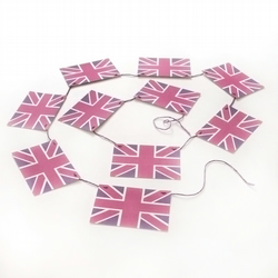 Pink and Purple Union Jack Bunting Diamond Jubilee