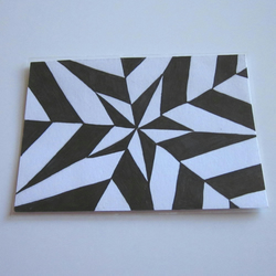 ACEO: Black and white star design