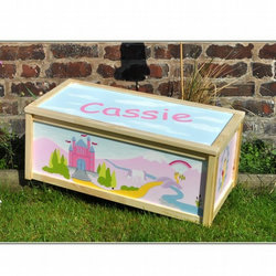 Personalised Princess Castle Flutterbug toy/storage box