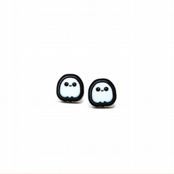 Ghost stud earrings, girls earrings, cute earrings, kawaii jewellery