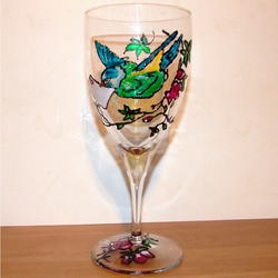 Bluebird Wine Glass - Personalised