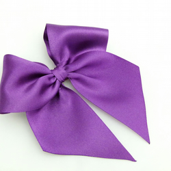 Purple Hair Bow Satin Bow For Girls to Adults Elizabeth Bow By Seriously Sassy