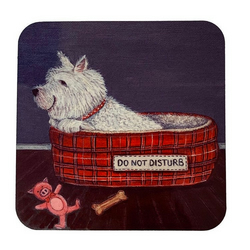 Drink coaster, gift for dog lover, birthday present for dog lover, dog coaster,