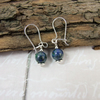 Earrings, Sterling Silver Blue and Green Chrysocolla Gemstone Dangle