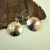 Earrings,  Sterling Silver and Copper Two Tone Hearts