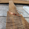 Copper Inspiration Bangle.  Hammered and Stamped Narrow Bangle,