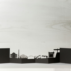 Newcastle Cityscape, Silhouette, Skyline Card