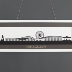 Large Dreamland Lasercut Silhouette Print with Mount