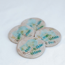 Wild Meadow Coasters Set of 4 'Lavender'