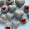 Mothers day gift - Pebble heart - wedding favour