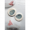 Handmade porcelain egg buttons - limited edition