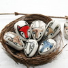 Woodland critter handmade ceramic bead-red fox, blue wolf, stag, hare,owl badger