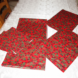 Christmas Red With Holly Extra Long Table Run Folksy