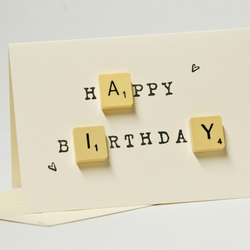 """Happy Birthday"" Scrabble Card"