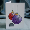 Christmas Card 4 Pack – Cat Baubles