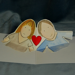 Original Heart to Heart Pop Up Card for Valentines