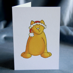 Christmas Card 4 Pack - Christmas Cat