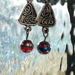 Pyramid Swirl Earrings