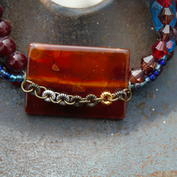 Chunky Red Beaded Bracelet
