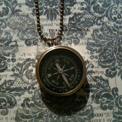 Vintage compass necklace by SweetDelirium