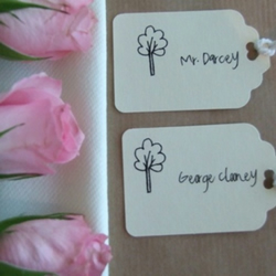 100 Wedding Place cards (tree design)