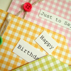 'Gingham' Gift Tags, Handmade Message Tags 3pack