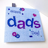 Father's Day Greeting Card,Printed Applique Design,Hand Finished Card.