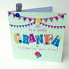 Fathers Day Greeting Card,Grandpa,Printed Appliqué Design,Handfinished.