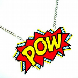 Superhero Comic Book POW! Necklace
