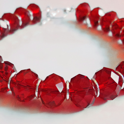 Red Chinese Crystal Bracelet