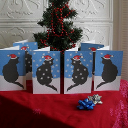 Set of six Christmas cards – Wishing you a purrrfect Christmas