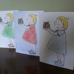 SALE! Three greetings cards - Little Gift Girls