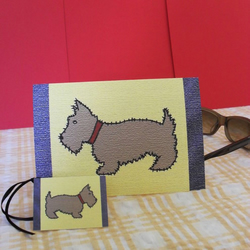 Scottie Dog - Greetings card and gift tag