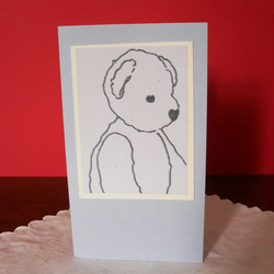 Blank greetings card - Jerald Bear