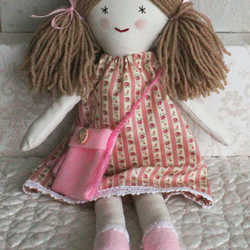 Rag Doll, handmade fabric doll, traditional doll, doll for little girl