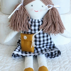 Rag Doll, cloth doll for little girl, forever doll, newborn gift, small doll,