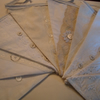 Wedding bunting - Shabby chic double sided,  white, cream & ivory lace style Extra Large Flags 14 foot -