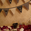 RESERVED FOR LAURA :-) Shabby chic, black and white bunting