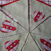 Pretty Hand Appliqued Bunting - Hearts  - Extra large double sided flags - 14 foot long Bunting -
