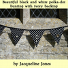 3 metres of  luxury, shabby chic, black and white bunting